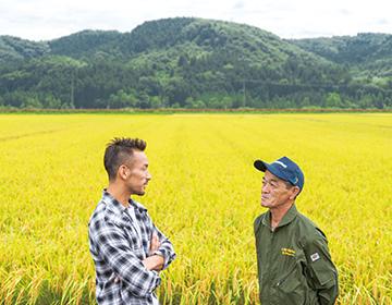 "Hidetoshi Nakata travels around Fukushima <#05> Arriving in Fukushima ""Rice"""