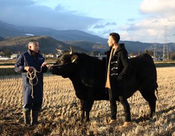 "Hidetoshi Nakata travels around Fukushima <#10> Arriving in Fukushima – ""livestock industry"""