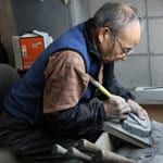 "HIghest production of inkstones in Japan - ""Ogatsu Inkstone Ichio Endo"""