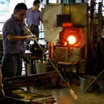 "Hand-made glass works, ""Joetsu Crystal Glass Co., Ltd."""