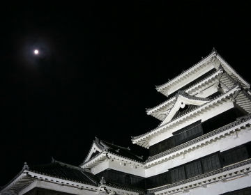Ancient Castle Lit Up by the Moon Matsumoto Castle Moon-viewing Festival